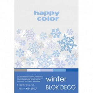 Blok dekoracyjny A4 20ark. HAPPY COLOR WINTER